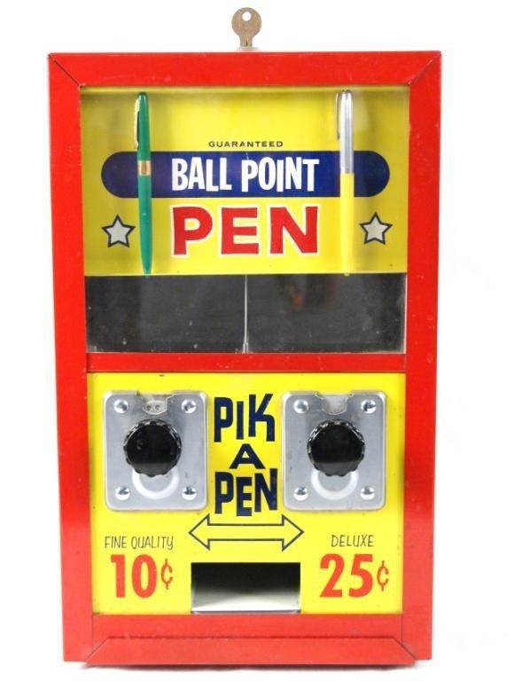 17A: Vintage 'PIK A PEN' Vending Machine