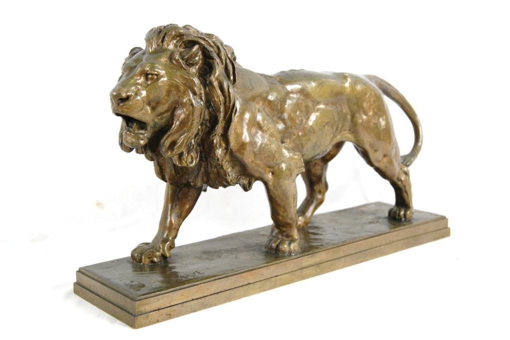 192A: Antoine-Louis Barye (1795-1875) Bronze Lion
