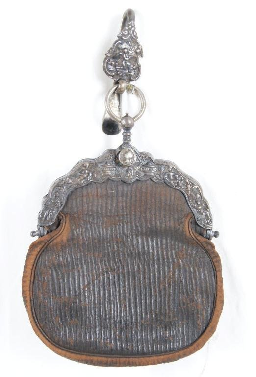 7: Victorian leather pouch (Chatelaine)