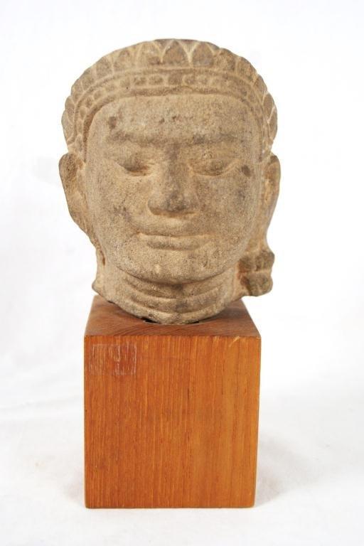 17A: Bronze Seated Buddha sand cast -
