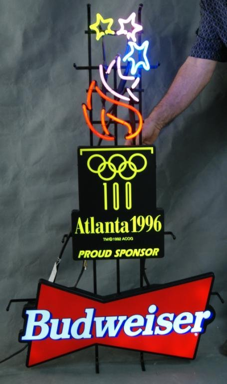 113: Atlanta 1996 Olympic Neon Budweiser sign - 2