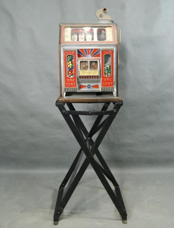 130: Rare Watling double jackpot 1c slot machine