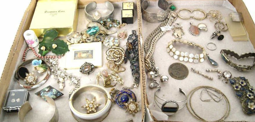 5: Lot of sterling and costume jewelry - 2 boxes