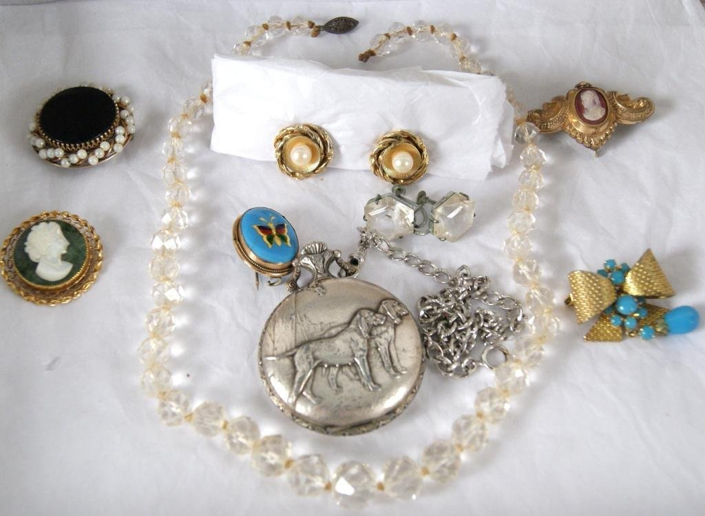 6: Collection of Antique Jewelry including Dior