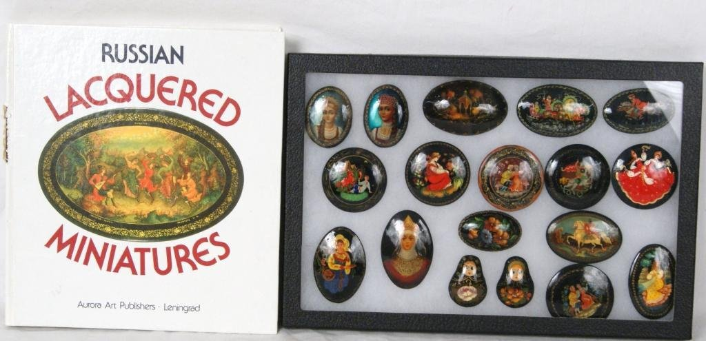 7: Russian Lacquered Miniatures & Book