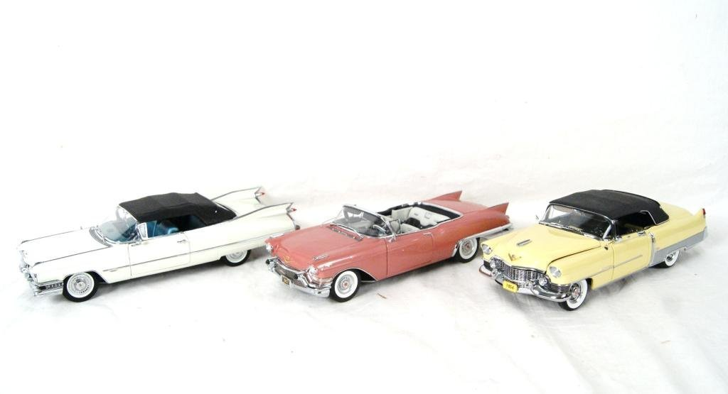 21A: Collection of 3 Danbury Mint Cadillacs - 50th Anni