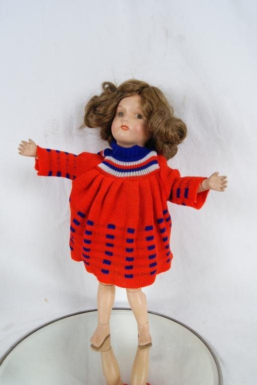 "24: 17"" Shoenhut doll ca 1910-1920"