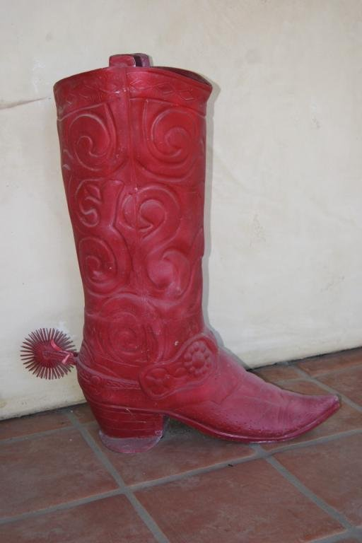 "3: Giant Red Cowboy Boot 32"" x 30"""