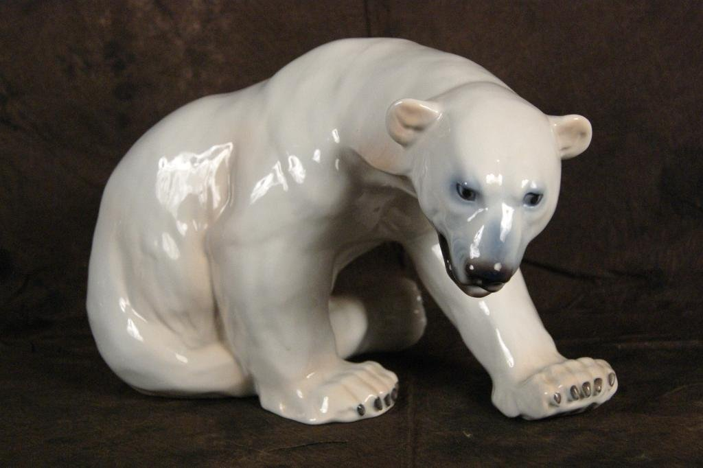 "12: Royal Copenhagen Polar Bear app 8.5""h"