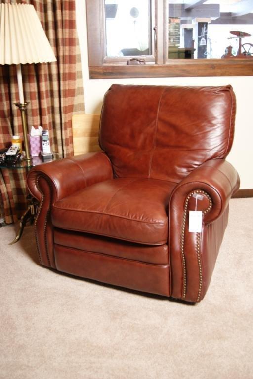 70: Leather Lazy Boy recliner rocker