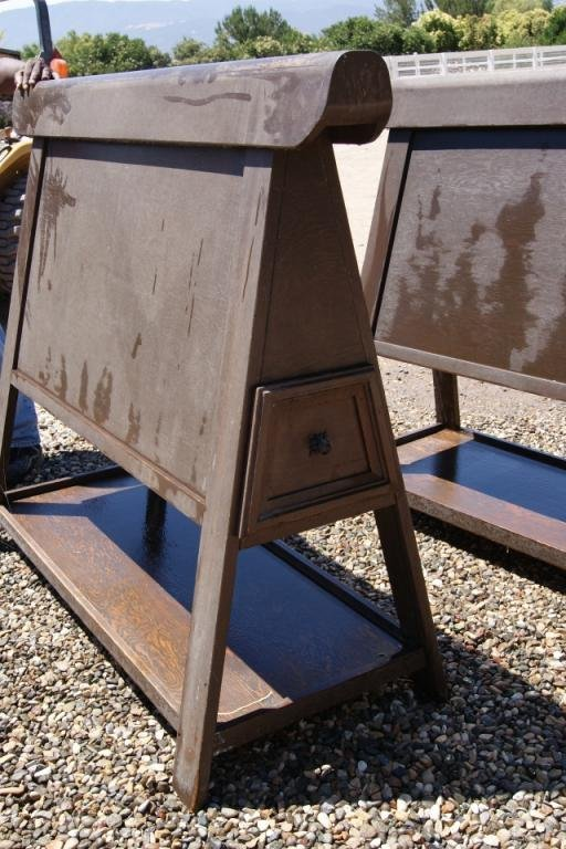 80: Pair of Custom made saddle stands