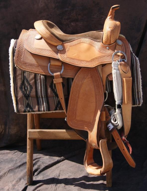 80A: Custom saddle by Santa Ynez maker Custom Spurs