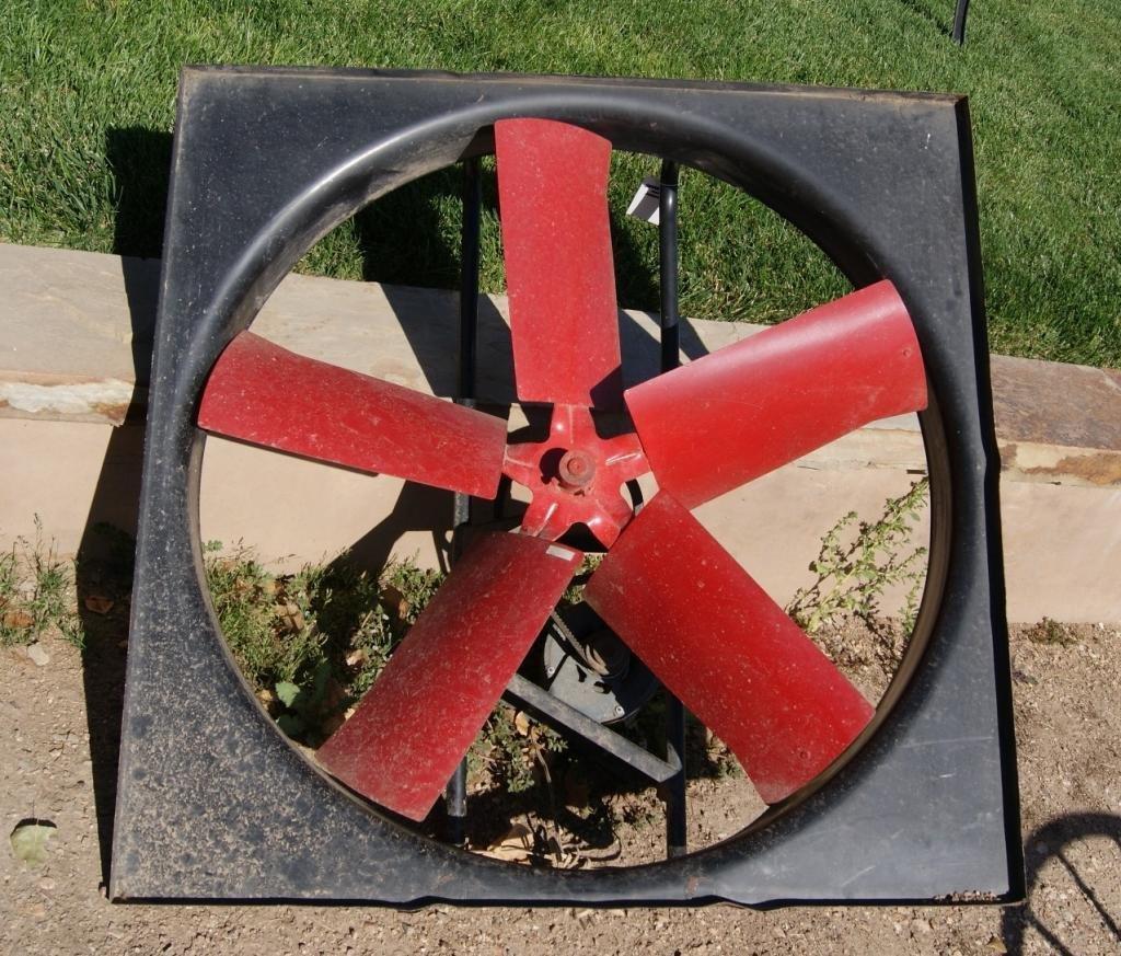 78B: Industrial Red Fan with Dayton fan & blower motor