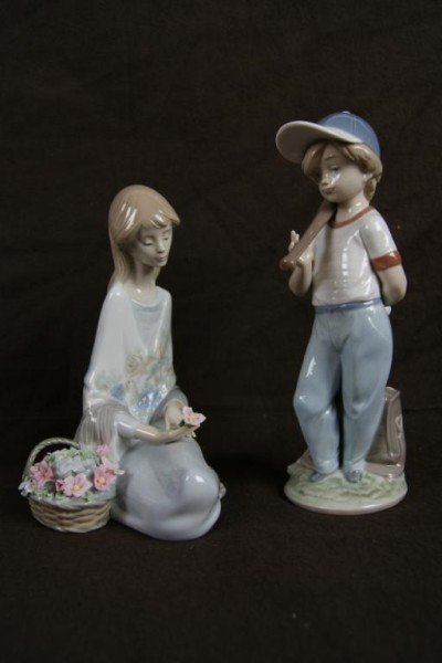 4: Lladro statues - Flower Song & Can I Play?