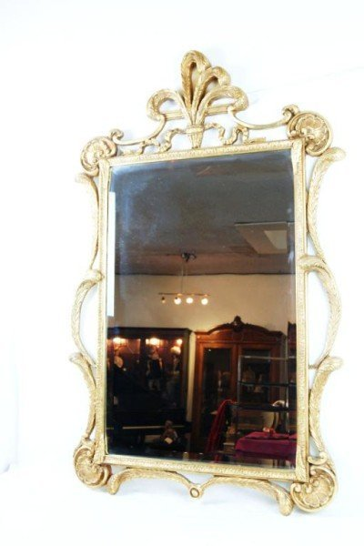 19: French style gold beveled mirror