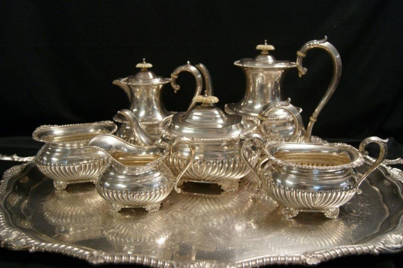 158: 6 pc Birks English Sterling tea and coffee service