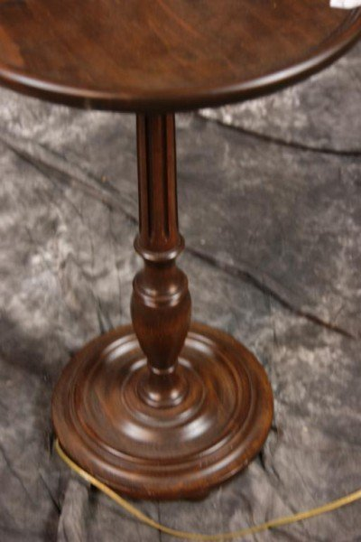 253: Round wooden table lamp - 3