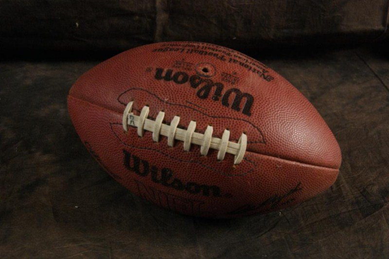 408: NFL Oakland Raiders football signed by coach Terry