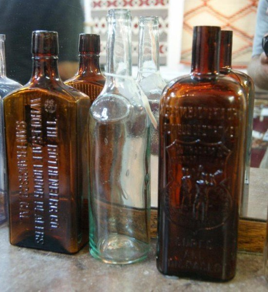 410: Antique S.F. and Santa Barbara  bottles
