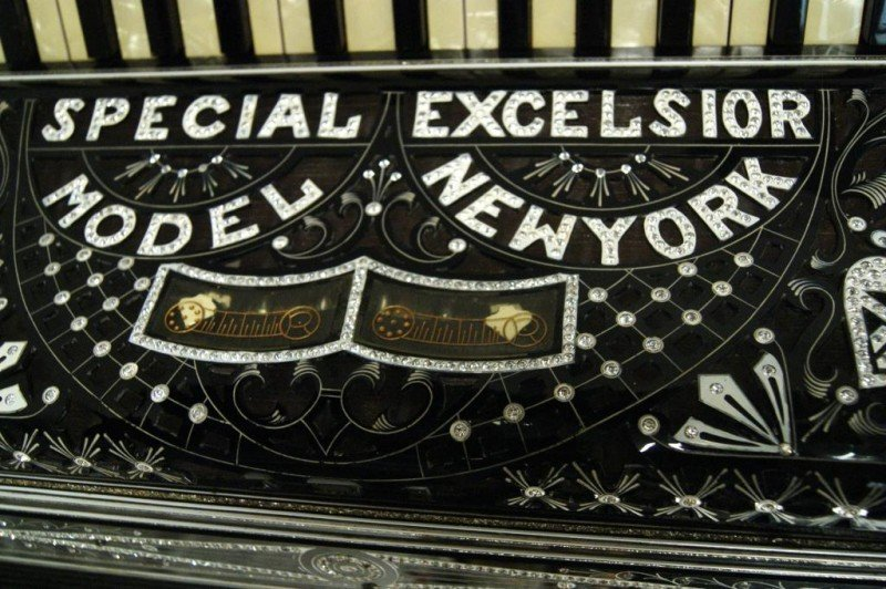 "543: Excelsior N.Y. ""Special Model"" jeweled Accordion - 2"