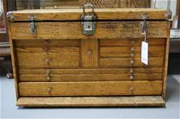 616 Antique Machinist tool box by H Gerstner  Sons