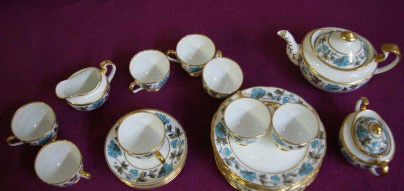 "5: English Copeland 26 pc. China Tea Set "" Davenport'"
