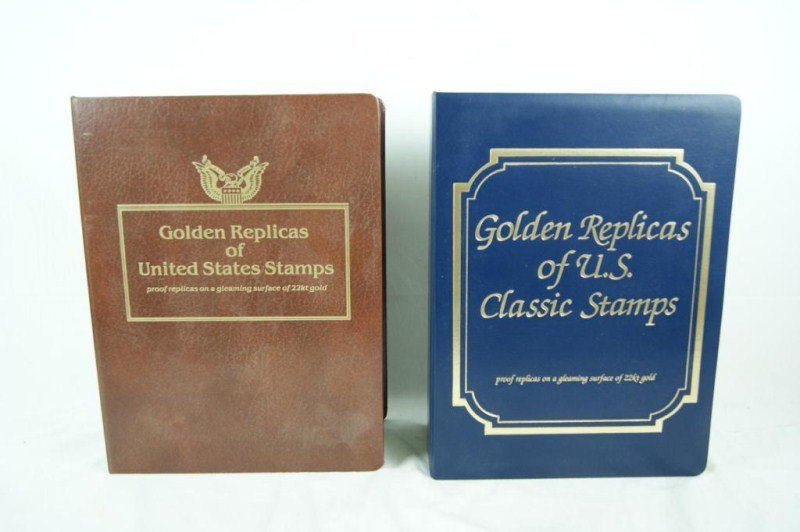 13: Golden Replicas of US classic stamps 2 Books