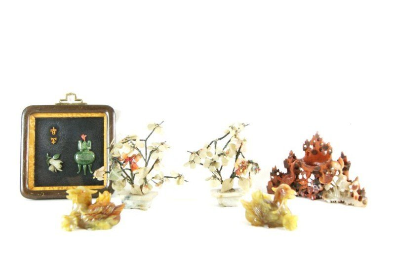 12: Chinese assorted carvings - cornelian dragons +