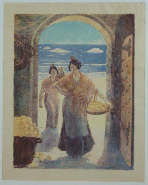 97: Alexandre Lunois (1863-1916) Spanish Women Oranges