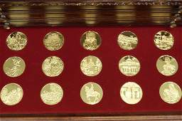 100 24kt Gold over Sterling Medallions 3190g Sterl