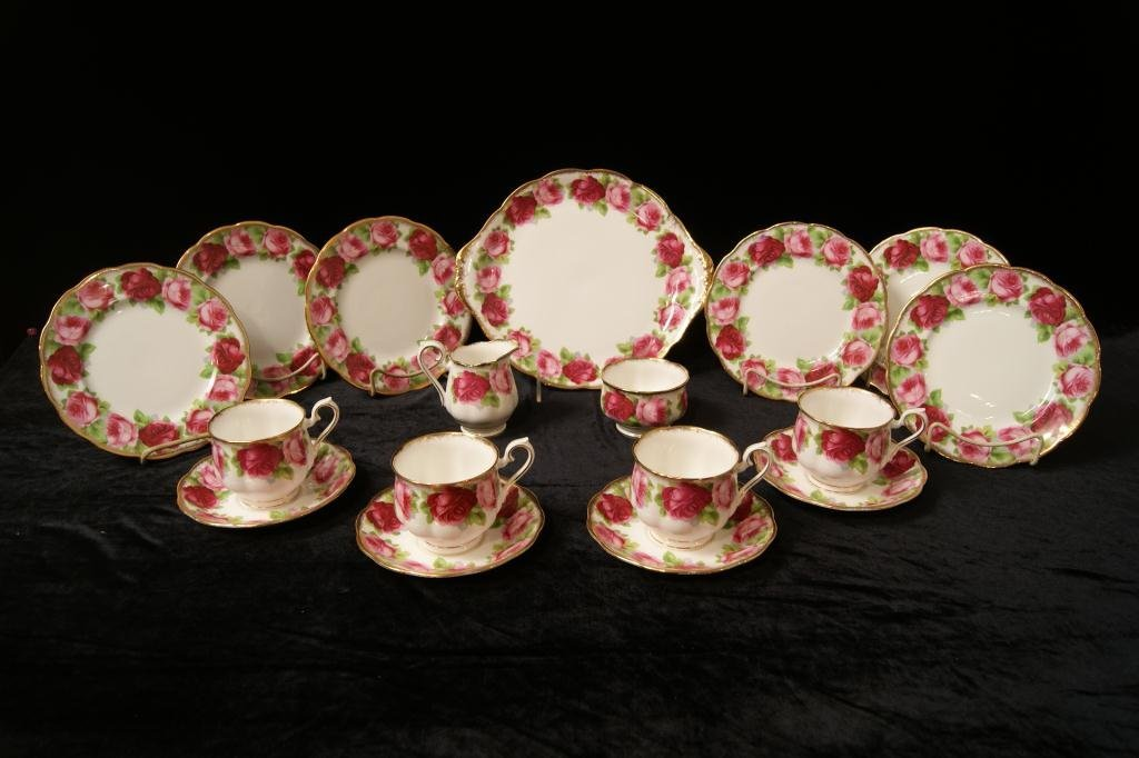 Royal Albert bone china Englis Rose floral tea set