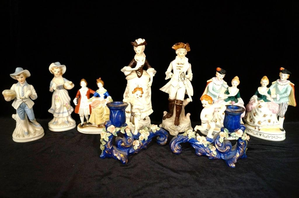 Collection of figurines - some Occ. Japan,