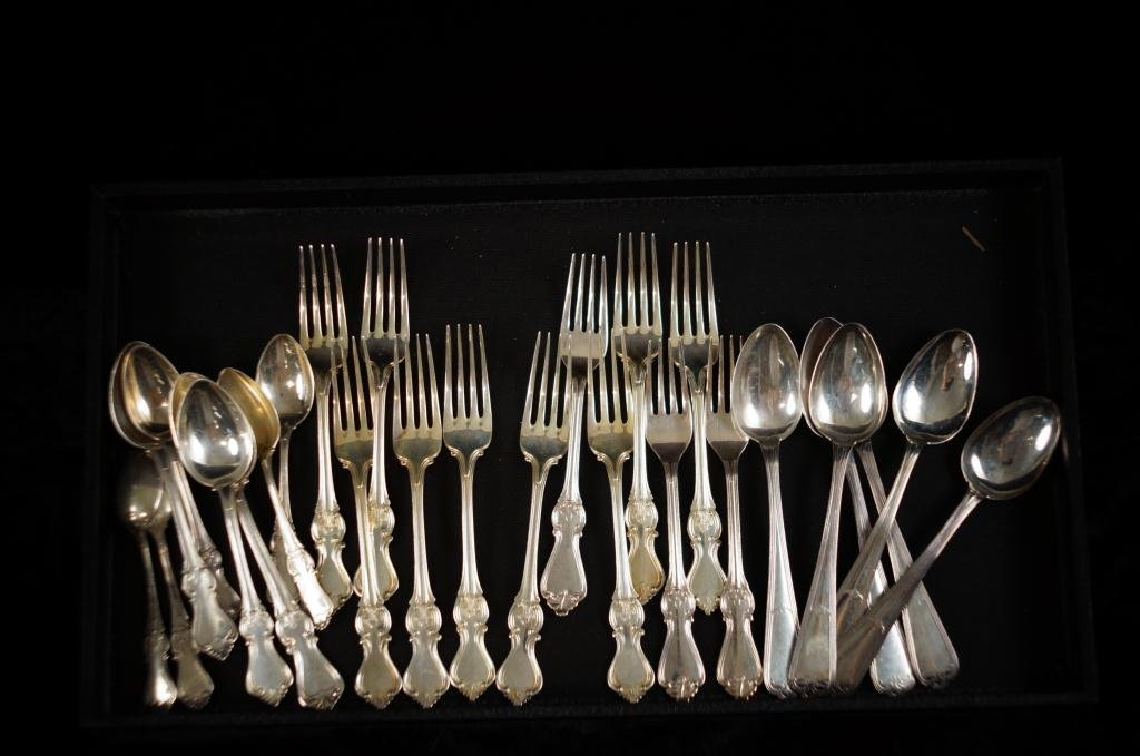 Danish silver 830 - 12 forks, 6 spoons, 8 spoons
