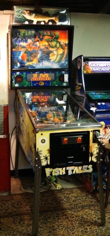 Williams Fish Tales Vintage Pin Ball Machine