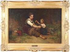 Emile Munier 18401895 oil on canvas Children