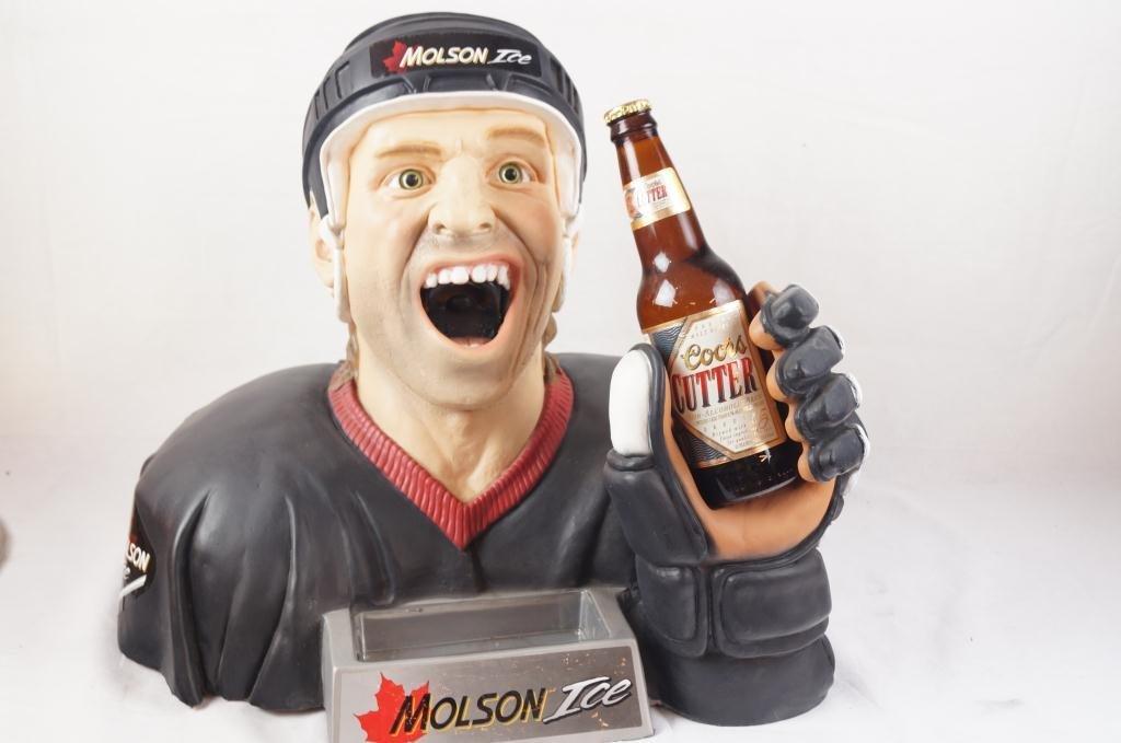 Molson Ice Hockey Player bust bottle opener - 2