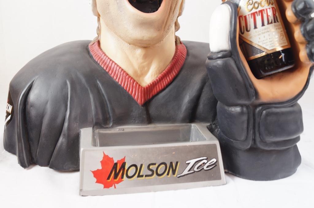 Molson Ice Hockey Player bust bottle opener - 4