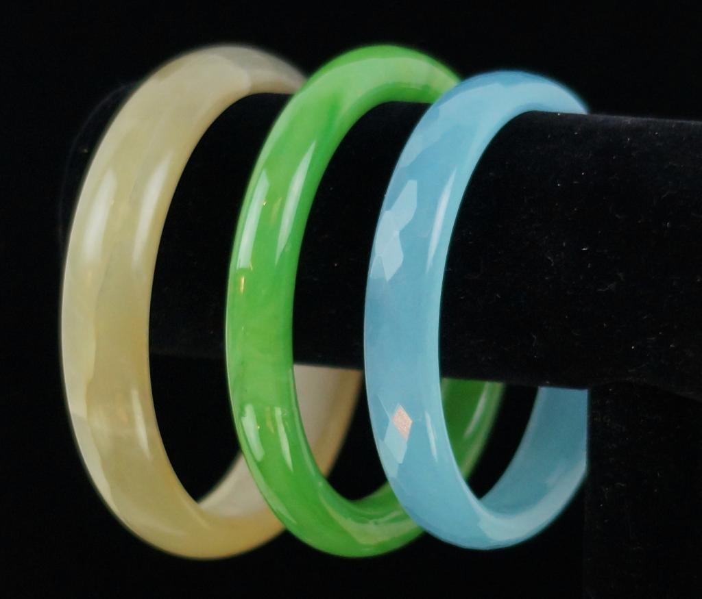 3 Chinese Jade bangles