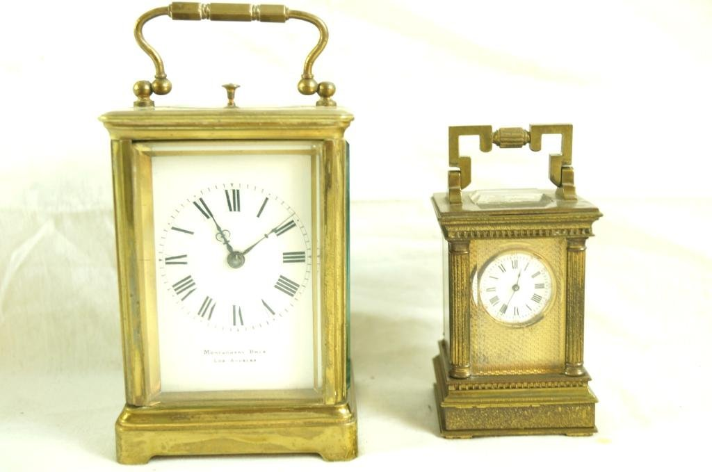 2 French Antique Brass Carriage clocks