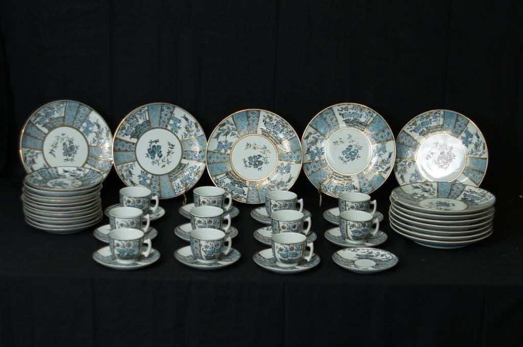 Imari porcelain china set - service for 12