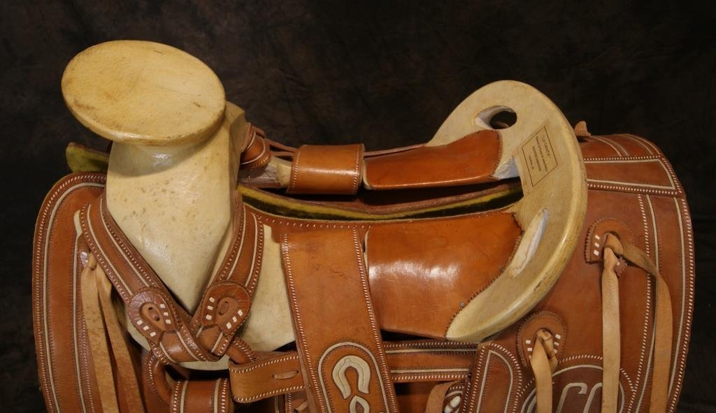 """Vintage Mexican """"Charro"""" saddle in new shape - 2"""