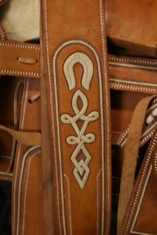 """Vintage Mexican """"Charro"""" saddle in new shape - 3"""