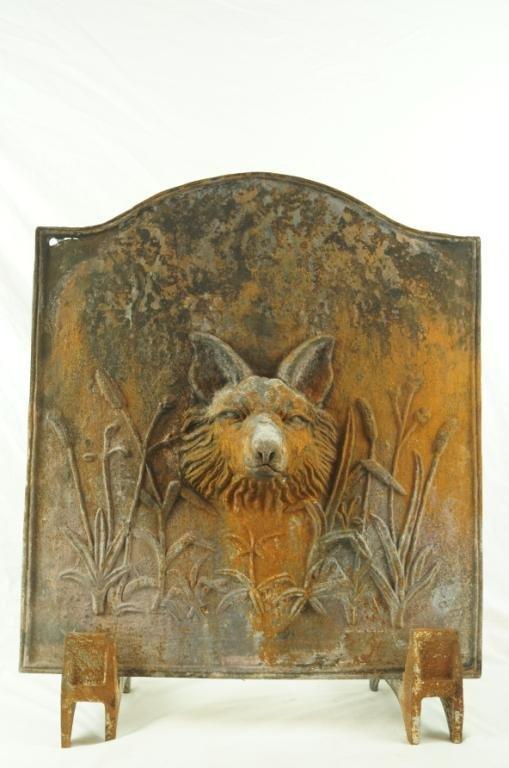 cast iron fireplace heat reflector fox