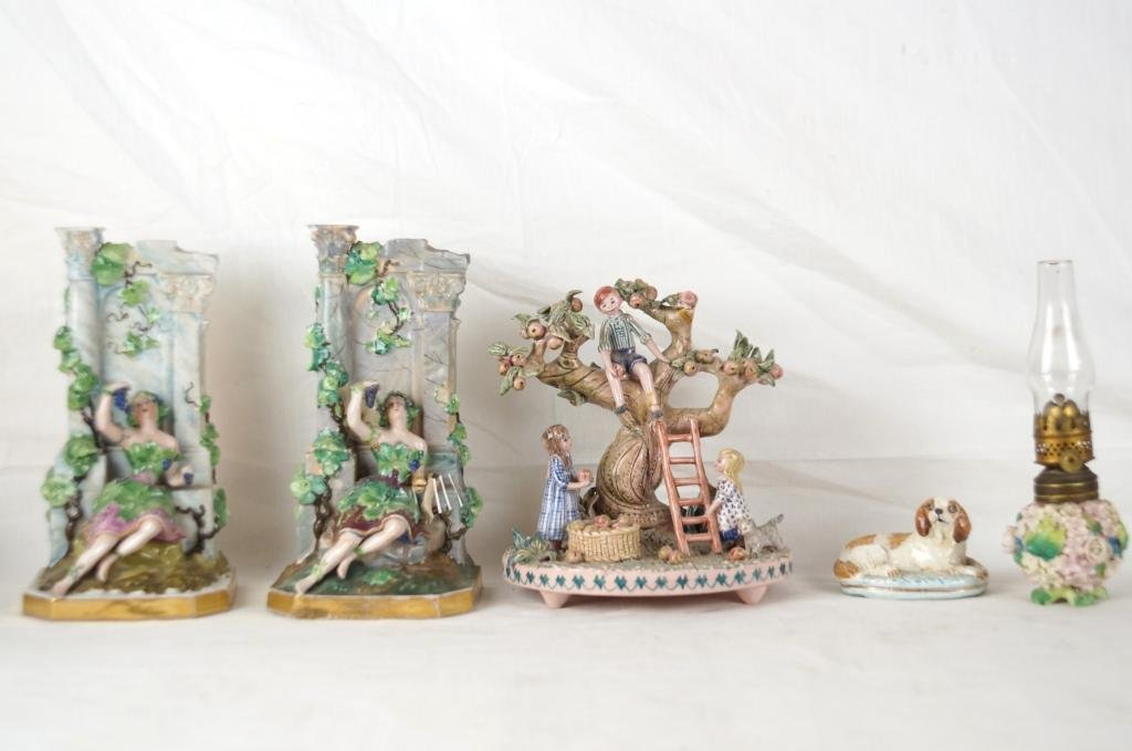 Collection of Porcelains - Bookends