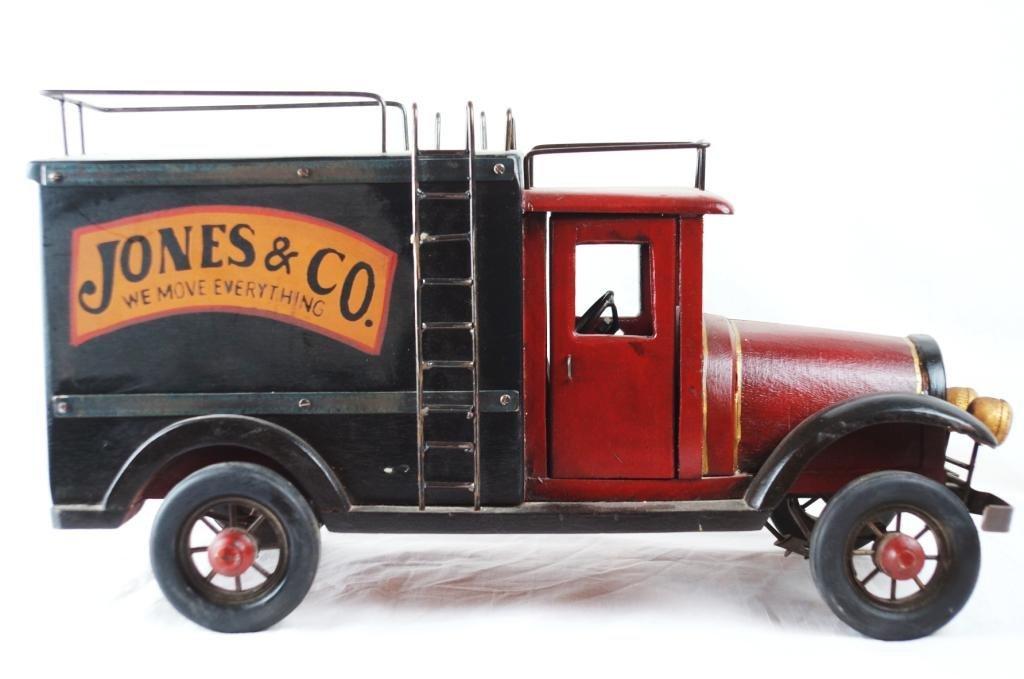 Jones & Co. reproduction wooden box van truck