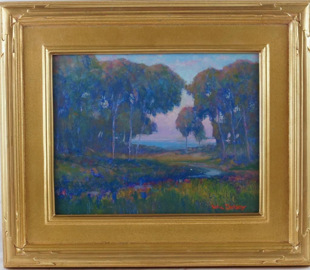 "William Dorsey 11""x14"" oil on canvas landscape"