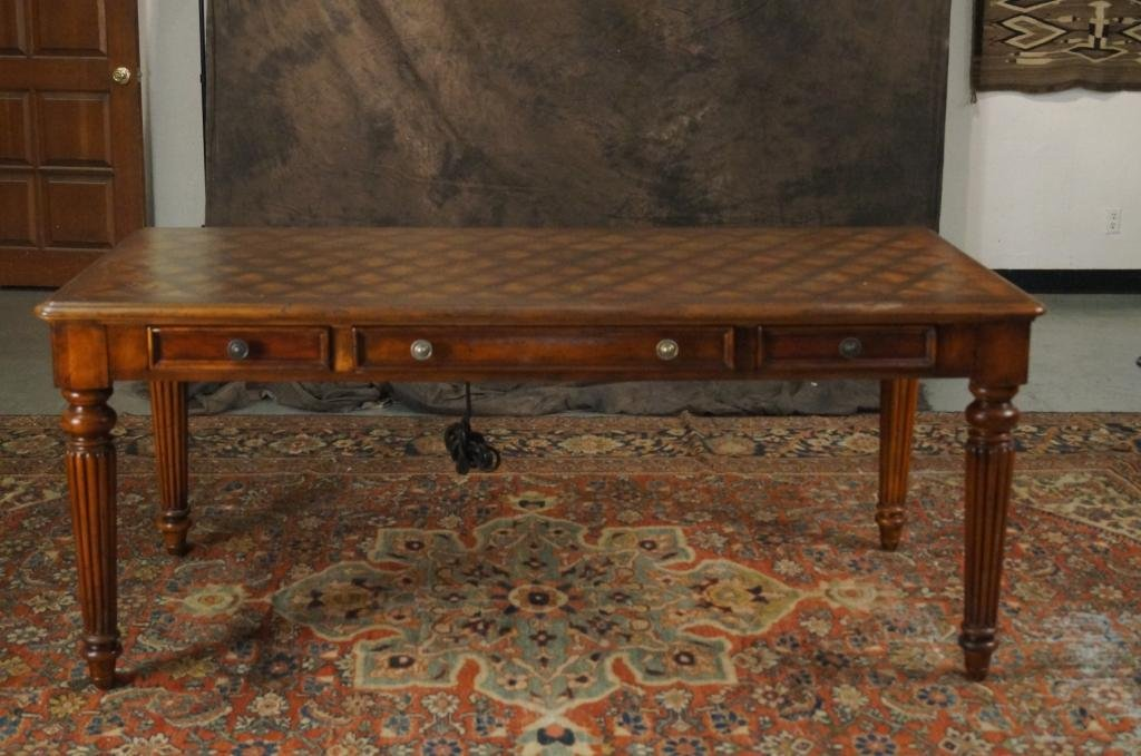 Hooker Furniture Inlaid Desk Table By Seven Seas