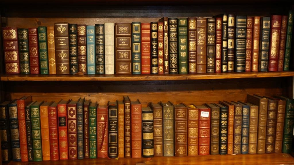 Collection of  leather bound books- Classics