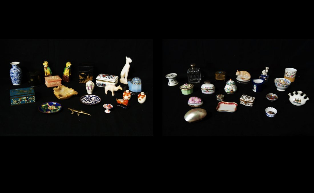 Collection of miniatures dresser boxes