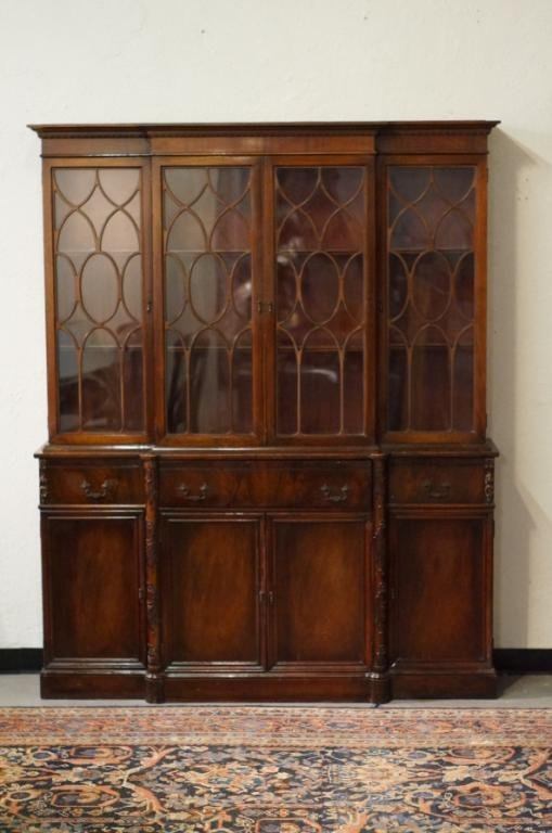 Mahogany Breakfront bookcase/secretary